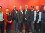 The AMC Sydney team from left: Sunny Chan, Violet Boudaher, Danny Singh, Stephen Coade, Gregg Harpur, Munas Jabeer, Jim Loupos and Chris Teo