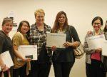 From left: Maria Garcia, Marilou Guanlao, Barbara Schwalger, Parvina Devi, Amy Pangan and Angeline Partridge
