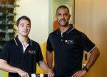 From left: Blake Harrison with Michael O'Loughlin. Photo courtesy: www.cmcindigenous.com.au