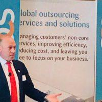 Gareth addressing forum