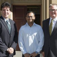 From left: Jim Manos, Theerthankar Das and Greg Whiteley
