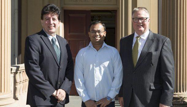 From left: Jim Manos, Theerthankar Das and Greg Whiteley