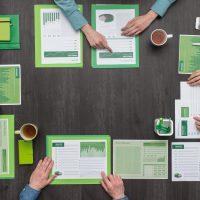 green, business, management, meeting
