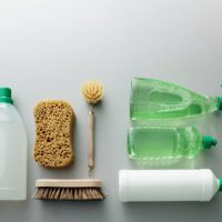 Cleaning: Green Cleaning Products Still Life